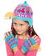 Ear Flap Alpaca Hat with Alpaca Motif for Children - Bold Color - 16752212