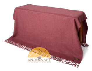 Alpaca SOLID Color Throw - Blanket by AndeanSun - Heather Red - 16893532