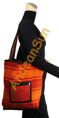 Tote Hand Woven Wool Shoulder Bag - 16242205