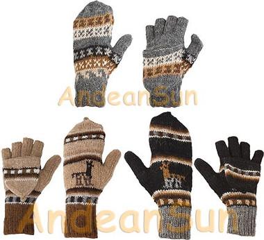 100% Alpaca GLITTENS with Andean Motif (HandSpun - HandKnitted - UNDYED Natural Alpaca Colors) - 16783211