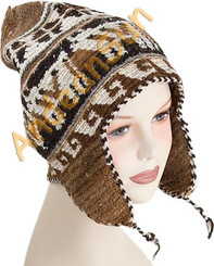 "Alpaca - Sheep Hand knitted Ear Flap Hat ""Rustic"" - Rustic Quality - US STOCK"
