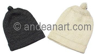 Double Knitted Solid Color Beanie Alpaca Hat - Natural Color - 16751702