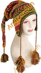 "Ear Flap Alpaca Hat ""Chullo"" with Alpaca Motif - Earth Color - 16752215"
