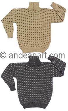 "Turtle Neck Alpaca Sweater ""Waffle"" - 11261727"