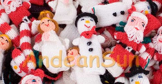 Hand Knitted Christmas Finger Puppets - Rustic Quality - US STOCK