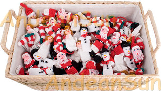 Hand Knitted Christmas Tree Ornaments - Rustic Quality - US STOCK