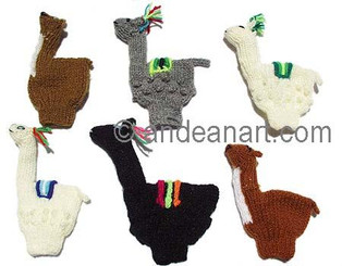 Hand Knitted Finger Puppets - Alpaca Figurine - Rustic Quality - US STOCK