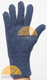 Classic Alpaca Gloves made with 100% Alpaca Yarn by AndeanSun - Steel Blue Heather - 16783807