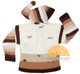 Children's Hooded Cardigan for Children with Appliques - Natural Brown Striped - 16261731