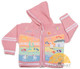 Children's Hooded Cardigan for Children with Appliques - Baby Pink - 16261731