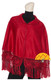 Short Alpaca Cape with Hand Crocheted Roses - Alpaca Carrasco - Dark Red - 16833522