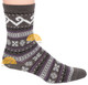 Fair Isle Crew Alpaca Socks by AndeanSun - Charcoal - 16711723
