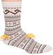 Fair Isle Crew Alpaca Socks by AndeanSun - Ivory - 16711723
