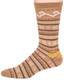 Fair Isle Crew Alpaca Socks by AndeanSun - Camel - 16711723