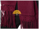 Hand Crocheted FLOWERS Alpaca Scarf - Alpaca Carrasco - Burgundy - 16773556