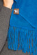 Alpaca Scarf Narrow with Hand Finish Fringe Solid Color - Alpaca Carrasco - Electric Blue - 16773555