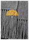 Narrow Alpaca Scarf with Alpaca Figure Label / Tag - Alpaca Carrasco - Grey - 16773555