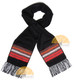 Striped Alpaca Scarf - Alpaca Carrasco - Black - Bright Red - Orange - 16773557