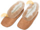 Alpaca Fur Collar Slipper - Faux Suede - Shoe Style - Camel - 72911702