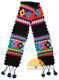 Hand Crocheted Huancavelica Alpaca Scarf for Children - Black - 16772211