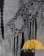 Triangular Alpaca Shawl with Flowers Hand Crocheted on Trim - Alpaca Carrasco - Grey - 16853516