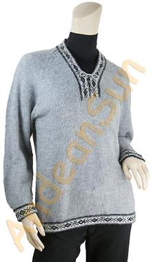 V-Neck Alpaca Sweater - 16261704