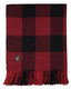 Buffalo Plaid Lap Throw Alpaca AND ACRYLIC Blend Blanket by Alpaca Carrasco - Dark Red and Black - 16893602