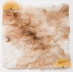 "Large Baby Alpaca Fur Pillow Cover 16"" x 16"" - Mixed Colors - 16728006"