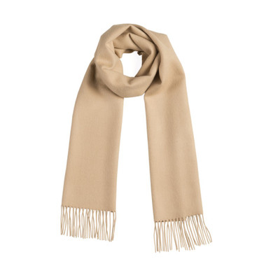 Premium 100% Baby Alpaca Solid Color Woven Scarf HIGH END - Beige - 16773566