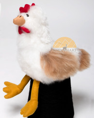 Alpaca Fur Chicken - Alpaca Fur Stuffed Animal - Mixed Colors - 15981609