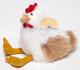 Alpaca Fur Chicken - Alpaca Fur Stuffed Animal - Mixed Colors - 15981609