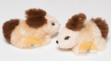 Alpaca Fur Rabbit - Laying - Alpaca Fur Stuffed Animal - Mixed Colors - 15961612
