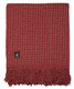 Cross Weave Alpaca Throw - Alpaca AND ACRYLIC Blend Blanket by Alpaca Carrasco - Red Ivory Combo - 16893614