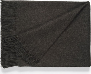100% Baby Alpaca SOLID Color Throw - Alpaca Blanket - AndeanSun - Charcoal - 16893550