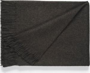 100% Baby Alpaca SOLID Color Throw - Alpaca Blanket - AndeanSun - Charcoal - 16893550