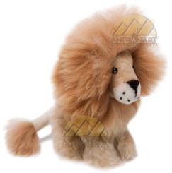 "Alpaca Fur Lion Medium 10"" inches (fur to fur) - 8"" (hide to hide) Sitting - Mixed Color - 15961607"