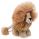 "Alpaca Fur Lion Medium 10"" inches (fur to fur) - 8"" (hide to hide) Sitting - Mixed Color - 15961607"