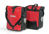 Ortlieb Front-Roller Classic Shoulder straps and easy on/off attachments.