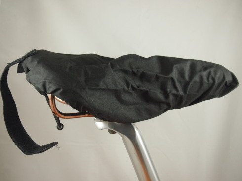 Brooks water resistant saddle cover.