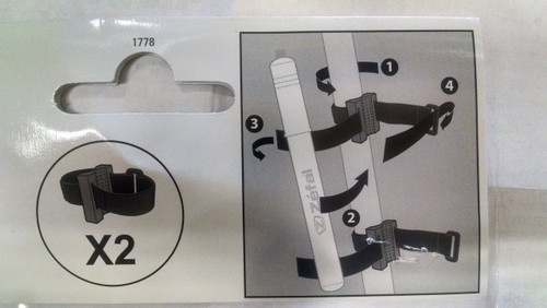 Zefal DooDad bicycle frame pump straps.