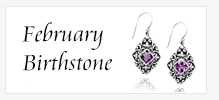 Amethyst February Birthstone Jewelry Banner Ad