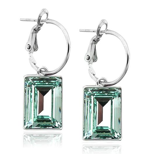 Chrysolite Swarovski Crystal Earring in Brass