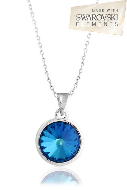 Sapphire Blue Swarovski Element Necklace
