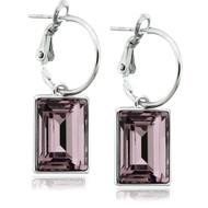 Light Amethyst Swarovski Crystal Earrings