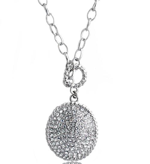 Swarovski Element Pave Oval Necklace