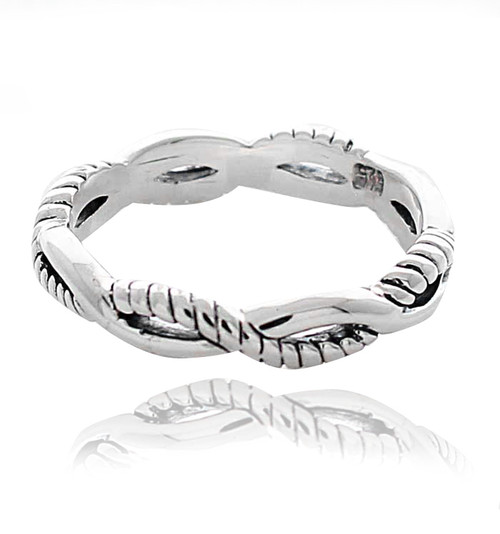 Sterling Silver .925 Infinity Eternity Band Ring