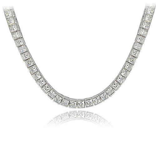 Cubic Zirconia Tennis Necklace