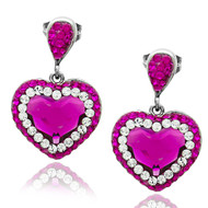 Swarovski Elements Pink Earrings