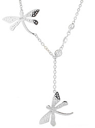 Sterling Silver Dragonfly CZ Yard Lariat Necklace