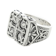 Sterling Silver 925 Cross Men's Ring